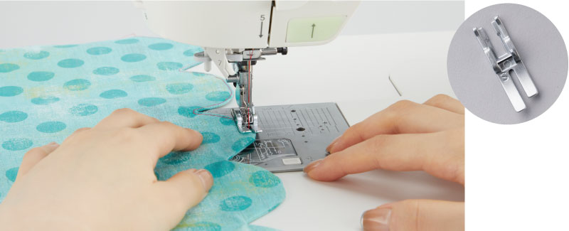 Easily Switch to Straight Stitch Sewing Conditions